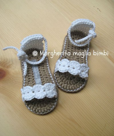 Inserzione riservata per Roberta - sandaletti in cotone per maschietto