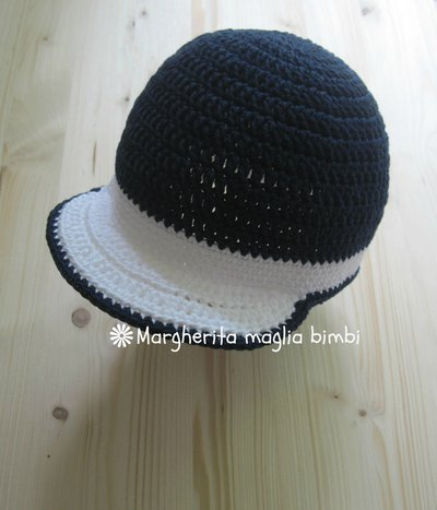 Cappellino Neonato Uncinetto Con Visiera