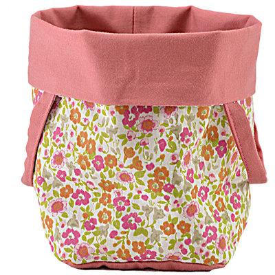 Sacchetto cotone portapane di cotone con fiorellini