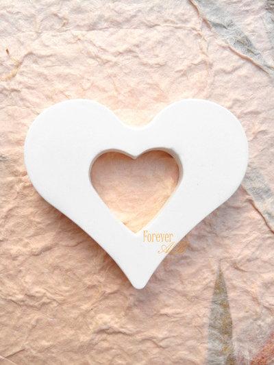 10 pz gessetti cuore  cuori lisci per bomboniere segnaposto matrimonio