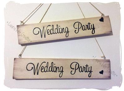 Ancora cartelli in legno per matrimonio