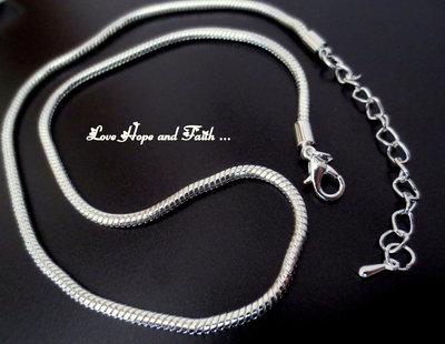 Collana snake per perle a foro largo (45 cm) (cod.04018)