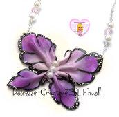 Collana Farfalla - in fimo con perle miniature kawaii handmade
