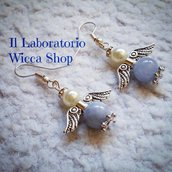ANGEL EARRINGS (con perle di Angelite)