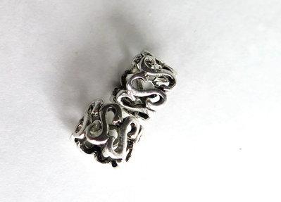 4 Perle a foro largo argento tibetano  PFL158