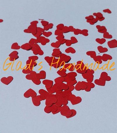 300 Coriandoli a forma di Cuore di cartoncino rosso per scrapbooking
