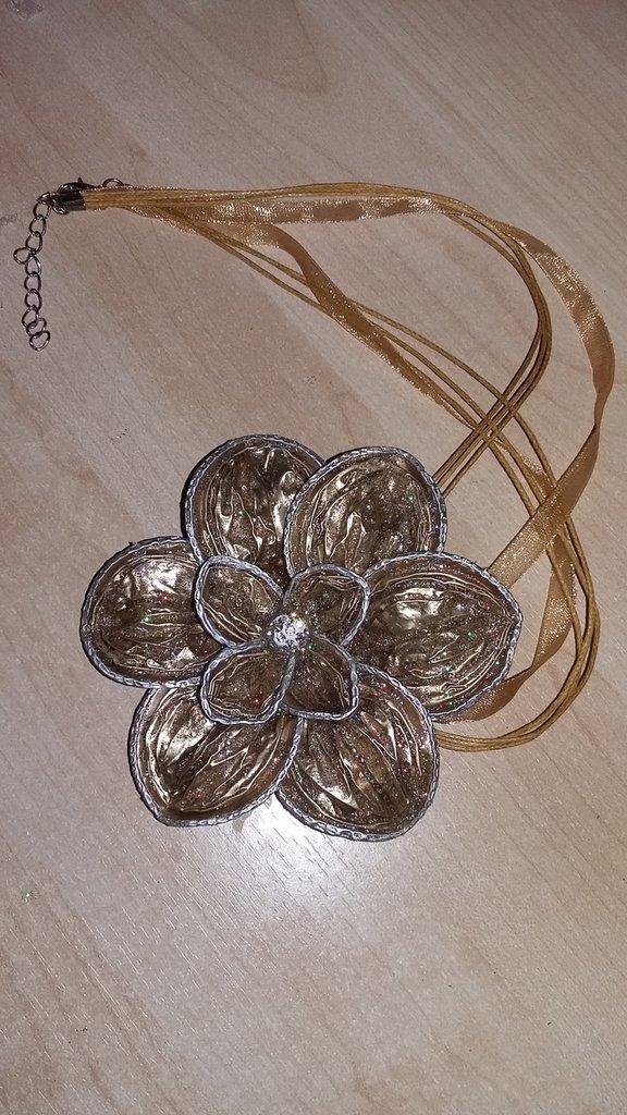 collana doppio fiore con cialde