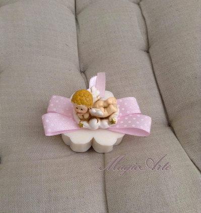 Saponetta fiore nascita/Bomboniera
