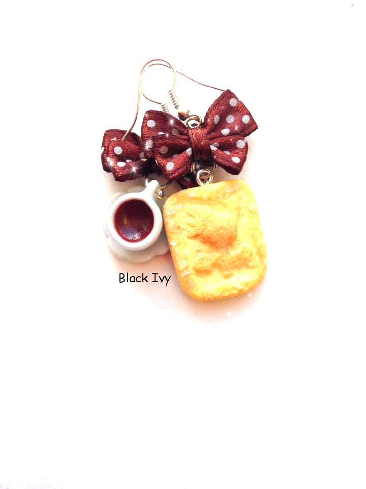 Orecchini pendenti biscotto Galletti