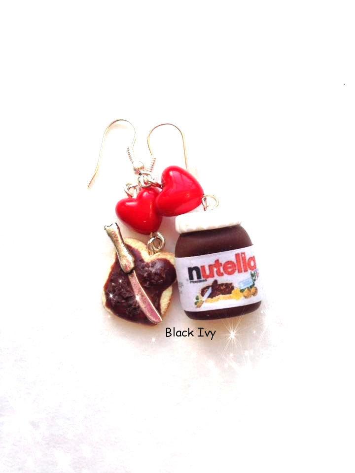 Orecchini pendenti barattolo di Nutella