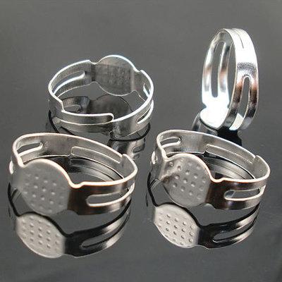 10 Basi per anelli col. argento chiaro