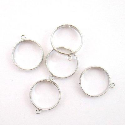 3 Basi per anelli col. argento scuro