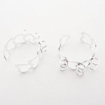 2 Basi per anelli col. argento chiaro