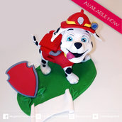 cake topper compleanno MARSHALL - paw patrol