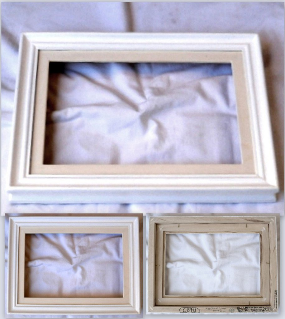 Cornici cornice barocco lucida bianca con passepartout for Cornice bianca foto