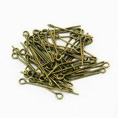 100 Chiodini con asola 3 cm bronzo