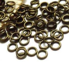 50 Anellini chiusi 6 mm bronzo