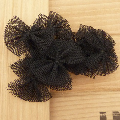 10 Fiocchi 35x25 mm applicazioni stoffa col. nero