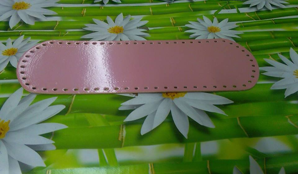 fondo ovale 12x36 rosa vernice