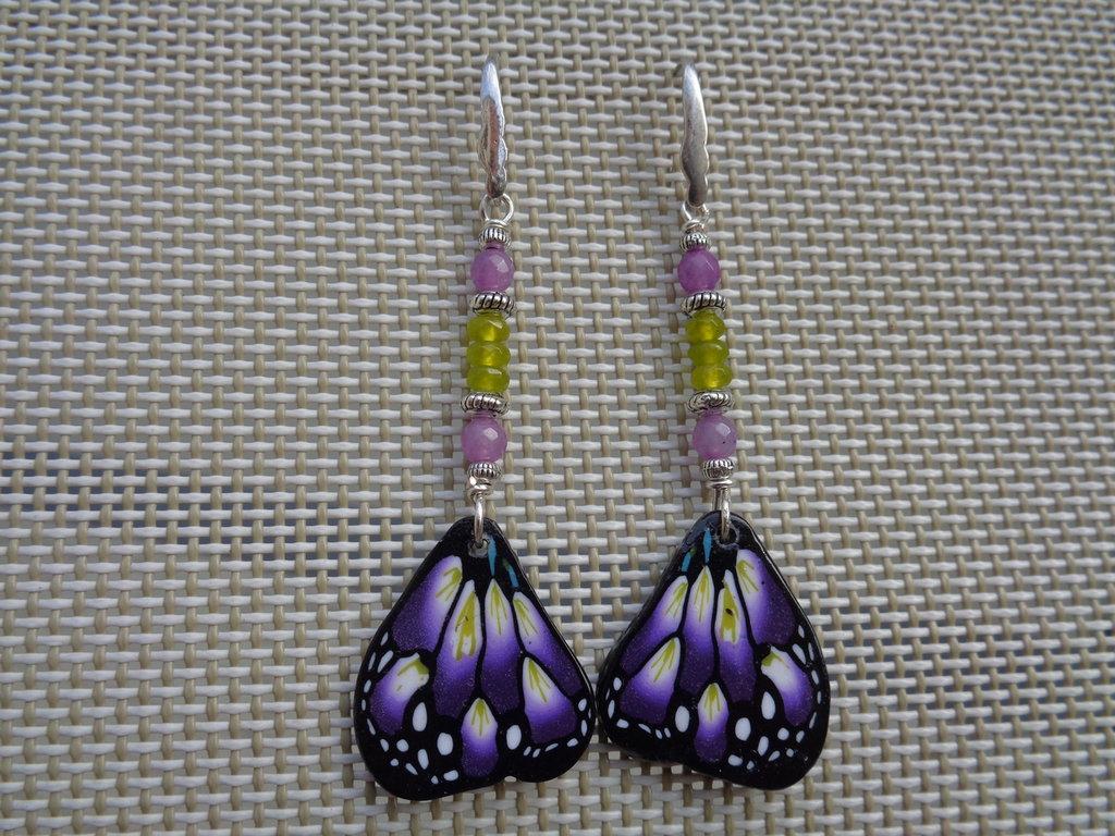 Pendenti pasta polimerica ali farfalla