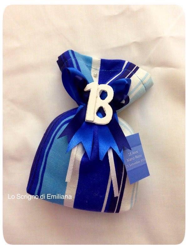 Bomboniera sacchetto portaconfetti Compleanno con gessetto profumato