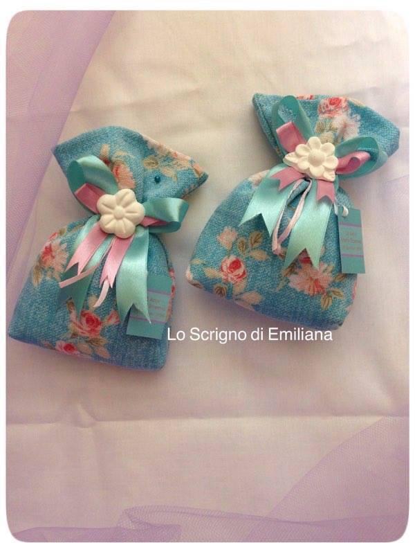 Sacchetto portaconfetti Compleanno con gessetto profumato