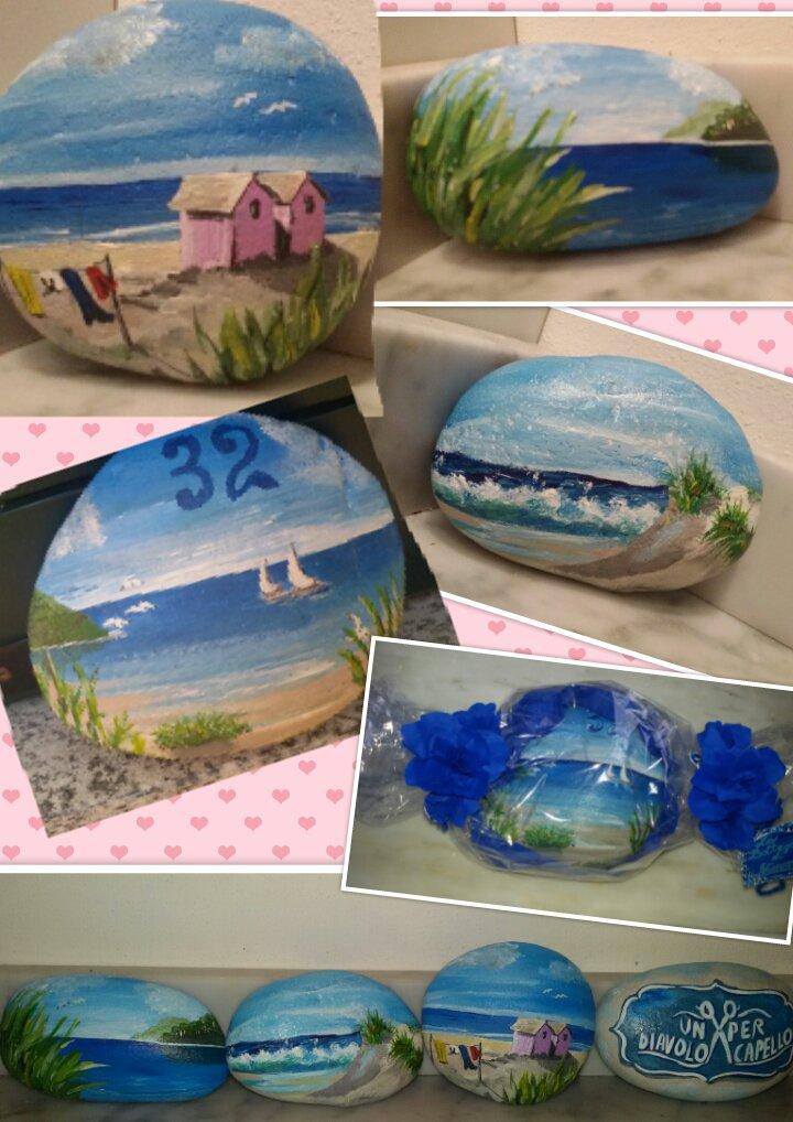 Sassi marini dipinti