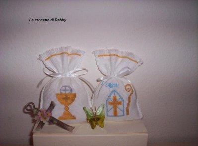 sacchettini bomboniere per comunione e cresima