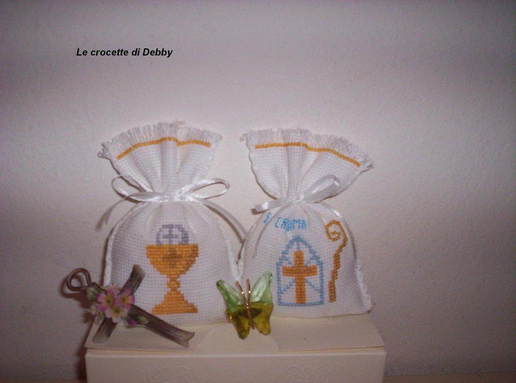 Bien-aimé sacchettini bomboniere per comunione e cresima - Feste  YU47