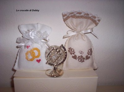 sacchettini bomboniera per matrimonio o anniversari