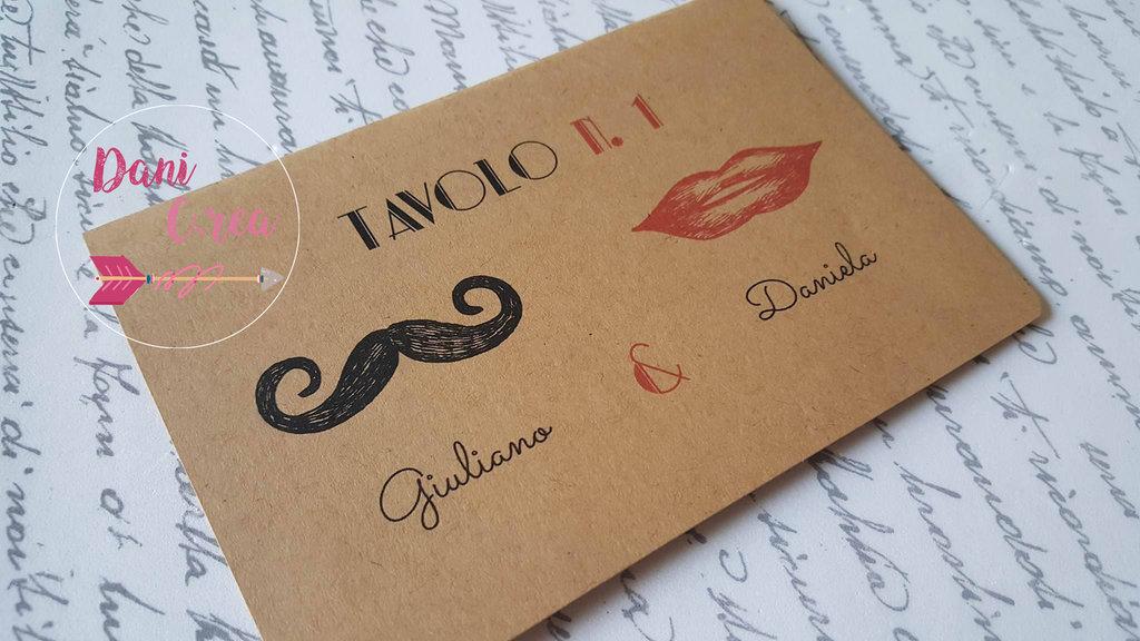 """Decorazione Tavoli """"Mustache"""""""
