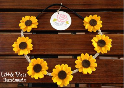 Coroncina a girasoli by Little Rose Handmade
