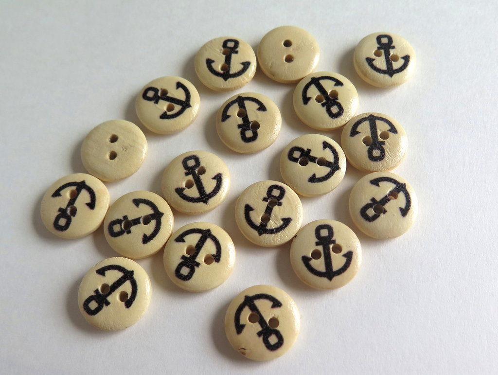 6 Bottoni di legno -MARINA  BOT2