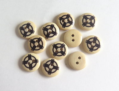 6 Bottoni di legno -MARINA  BOT3