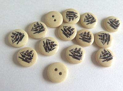 6 Bottoni di legno -MARINA  BOT4