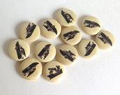6 Bottoni di legno -MARINA  BOT6