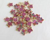 8 Bottoni di legno a forma di stella    BOT9