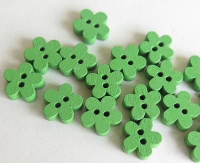 6 Bottoni di legno a forma di fiore   BOT20