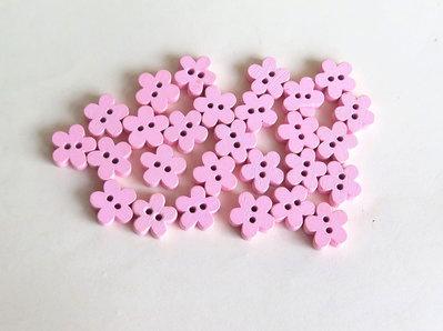 6 Bottoni di legno a forma di fiore   BOT22