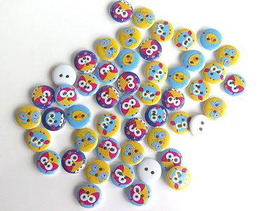 6 Bottoni di legno    BOT41