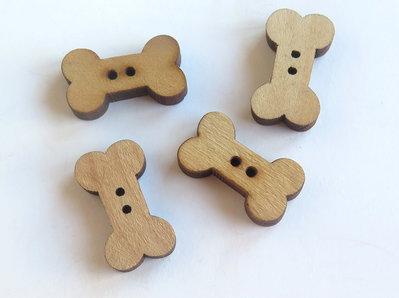 10 Bottoni di legno DOG    BOT46