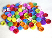 10 Bottoni di legno MIX   BOT28