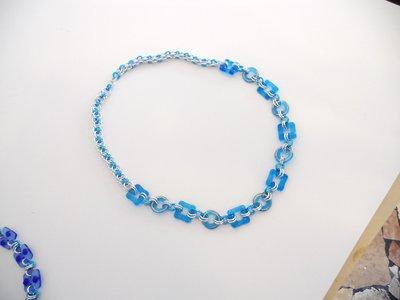 collier acquamare ciondoli geometrici