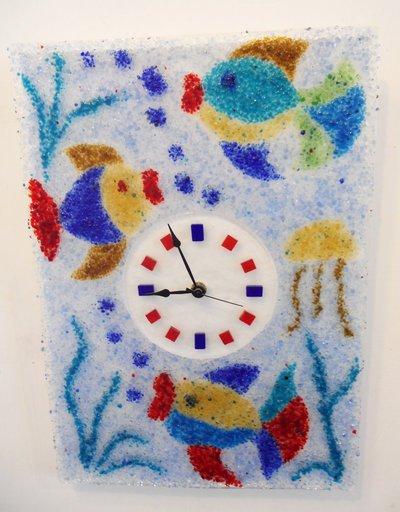orologio mare granella di vetro
