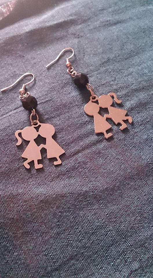 orecchini gemellini acciaio