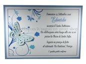 Invito Battesimo o per cerimonie e feste versione azzurro