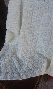 copertina lana bambino/a nuova fatta a mano