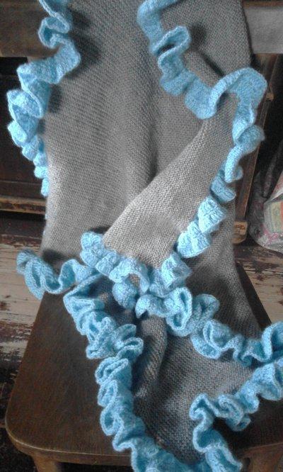copertina lana bambino/a nuova fatta a mano (anche su ordinazione)