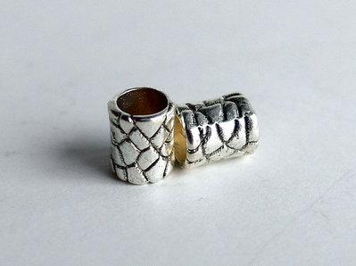 4 Perle a foro largo argento tibetano  PFL178
