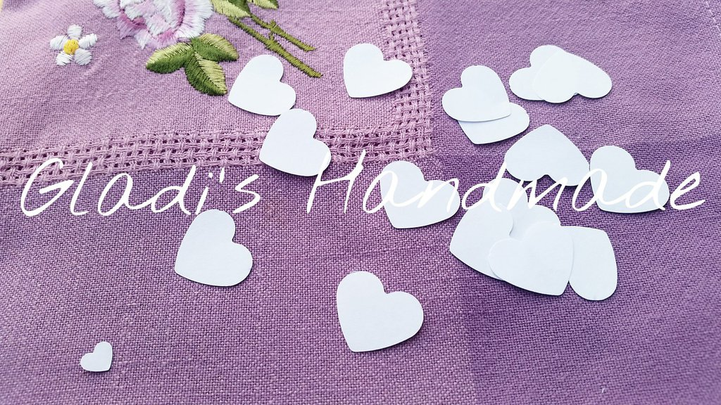 1000 Coriandoli cuore per matrimonio (2,5cm×2cm)